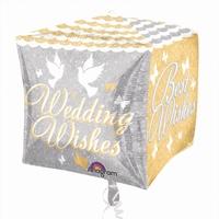 Shimmering Best Wishes Cubez Foil Balloon