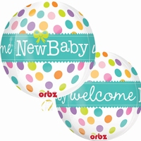 Welcome New Baby Orbz Foil Balloon