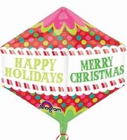 Christmas Colourful Dots Anglez Foil Balloon