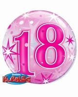 18th Pink Starburst Sparkle Single Bubble