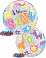 Welcome Baby Animals Patterns Single Bubble