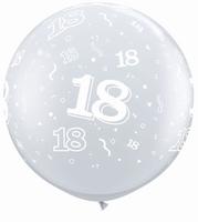 3ft Diamond Clear 18 Around Giant Latex Balloons 2pk