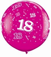 3ft Wild Berry 18 Around Giant Latex Balloons 2pk