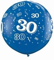3ft Sapphire Blue 30 Around Giant Latex Balloons 2pk