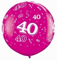 3ft Wild Berry 40 Around Giant Latex Balloons 2pk