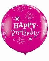 3ft Wild Berry Birthday Sparkles Giant Latex Balloons 2pk