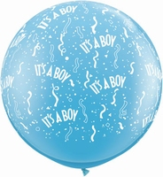 3ft Its a Boy Around Giant Latex Balloons 2pk