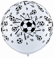 3ft Soccer Balls Giant Latex Balloons 2pk