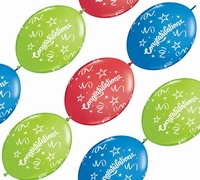 12 inch Congratulations Quick Link Party Banner 10ct