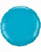18 Inch  Turquoise Round Foil