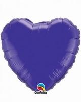 18 Inch Quartz Purple Heart Foil