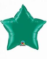 20 Inch Emerald Green Star Foil