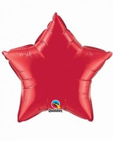 20 Inch Ruby Red Star Foil