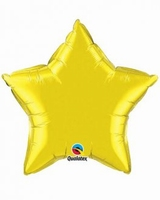 20 Inch Citrine Yellow Star Foil