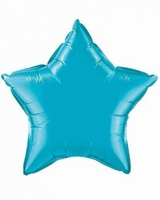 20 Inch Turquoise Star Foil