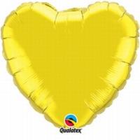 36 Inch Gold Heart Foil