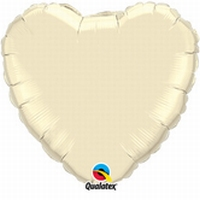 36 Inch Pearl Ivory Heart Foil