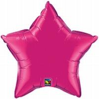 36 Inch Magenta Star Foil