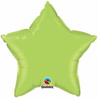 36 Inch Lime Green Star Foil