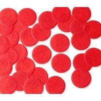 25mm RED Circular Tissue Confetti 100 gr