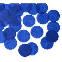 25mm ROYAL BLUE Circular Tissue Confetti 100 gr