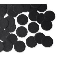 55mm BLACK Circular Tissue Confetti 250 gr