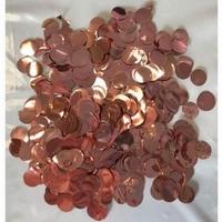 10mm Metallic Rose Gold Circular Confetti 30g