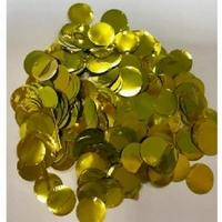10mm Metallic Gold Circular Confetti 30g