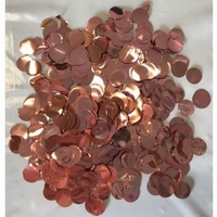 23mm Metallic Rose Gold Circular Confetti 30g