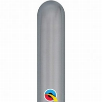 260q Chrome Silver Modelling Balloons 100pk