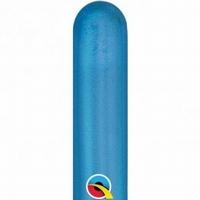 260q Chrome Blue Modelling Balloons 100pk