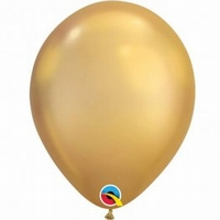 Q11 Inch Chrome Gold Latex Balloons 100pk