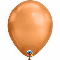 Q11 Inch Chrome Copper Latex Balloons 100pk