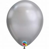 Q11 Inch Chrome Silver Latex Balloons 100pk