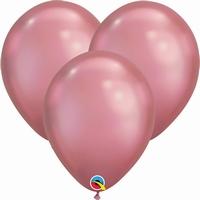 Q7 Inch Chrome Mauve Latex Balloons 100pk