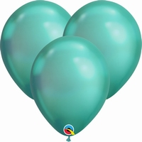 Q7 Inch Chrome Green Latex Balloons 100pk