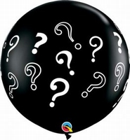 3ft Question Marks Giant Latex Balloons 2pk