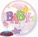 22 inch  Baby Girl - Bubble Balloon