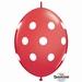 Quicklink 12 inch BIG POLKA DOTS RED 1 X 50 stuks