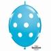 Quicklink 12 inch BIG POLKA DOTS ROBIN'S EGG BLUE 1 X 50 stuks