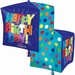 Happy Birthday Bright Cubez Foil Balloon