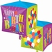 Happy Birthday Balloons Cubez Foil Balloon