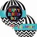 Happy Birthday Black And White Orbz Foil Balloon