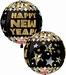 New Year Gold Orbz Foil Balloon
