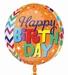 Happy Birthday Patterns Orbz Foil Balloon