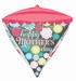 Mothers Day Floral Pattern Diamondz Foil balloon