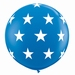 3ft Dark Blue Big Stars A Round Giant Latex Balloons 2pk