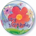 22 Inch Birthday Funky Flowers Bubble Balloon