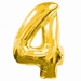Number 4  Gold Supershape Balloons
