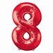 Number 8 Red Supershape Balloons